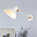 Metal Duckbill Shade Wall Lighting Modern Chic 1 Light Wall Lamp in White for Sitting Room