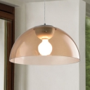 Acrylic Dome Suspension Light Contemporary Nordic Single Light Hanging Lamp for Coffee Shop