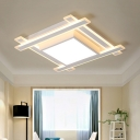 White Squared Ceiling Light Modern Fashion LED Flush Light with Acrylic Lampshade for Hallway
