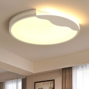 Acrylic Shade Circular Ceiling Light Simplicity Decorative Surface Mount LED Light in Warm/White