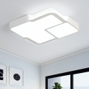 White Ultrathin LED Flushmount with Acrylic Shade Modern Fashion Ceiling Fixture for Sitting Room