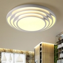Modernism Multi-Layer LED Flush Light with Circle Acrylic Shade Decorative Flushmount in White