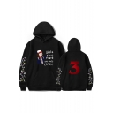 Trendy Stranger Things 3 Figure Letter Printed Casual Loose Sport Unisex Hoodie