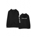 Wanna One Kpop Basic Long Sleeve Loose Casual Oversized Black Hoodie