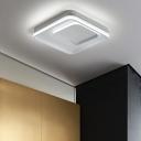 Square Canopy LED Flush Light Modern Aluminum Flush Mount Lighting in White for Bedroom
