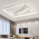 White Ultra Thin Ceiling Lamp Contemporary Acrylic LED Flush Lighting for Living Room