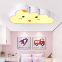 Lovely White Cloud LED Ceiling Fixture Acrylic Shade Lighting Fixture for Kindergarten