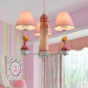 Lighthouse Hanging Light with Blue Prince/Pink Princess Kids Room Resin Triple Lights Chandelier