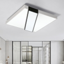 Geometric Acrylic Shade Flush Light Fixture Nordic Contemporary LED Indoor Lighting Fixture for Living Room