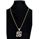 Fashion Number Shaped Hip Hop Style Necklace