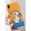 New Stylish Lovely Cartoon Duck Printed Polish Soft iPhone Case in Yellow