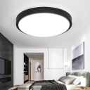 Acrylic Lampshade Round Flush Light Modern Design LED Ceiling Fixture in Warm/White for Bedroom
