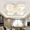 Cloud LED Semi Flushmount with Acrylic Shade Stylish 4/6 Heads Ceiling Fixture in Warm/White/Neutral