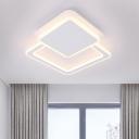 Geometric Square Flush Light Fixture Modernism Stylish Acrylic Flush Light in Integrated LED