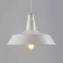 White Finish Warehouse Shade 1 Light Pendant Indoor Pendants