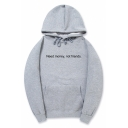 Funny Simple Letter NEED MONEY NOT FRIENDS Pattern Long Sleeve Drawstring Hoodie