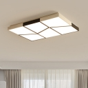 Acrylic 6 Trapezoid LED Ceiling Light Modern Chic Concise Surface Mount Ceiling Light in Black and White
