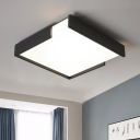Acrylic Shade Square Flush Light Fixture Nordic Style LED Ceiling Lamp in Warm/White for Foyer