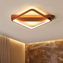 Modernism Ultra Thin Ceiling Lamp Metallic Decorative LED Flush Mount in Rose Gold for Hallway