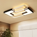 Modernism Geometric Pattern Flush Light Acrylic Shade LED Ceiling Lamp for Living Room