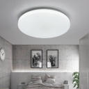 Acrylic Ultra Thin Lighting Fixture with Geometric Pattern Modern LED Flush Ceiling Light in White