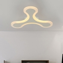 Ultra Thin LED Ceiling Lamp with Y Shape Simplicity Acrylic 1/2/3/4/5 Heads Lighting Fixture in Warm/White