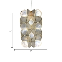 Shelly Cylinder Shape Pendant Lamp with Flower Modern Design 1 Bulb Suspension Light for Corridor