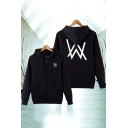 Norwegian DJ Cool Double W Logo Printed Warm Thick Unisex Zip Up Hoodie