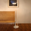 Metallic Folded Floor Lamp Simplicity Concise Single Head Standing Light in White for Office Studio