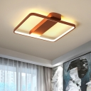 Rose Gold Square Frame Lighting Fixture Modern Concise Acrylic LED Surface Mount Ceiling Light