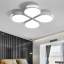 White Rain Drop Flush Mount Modern Design Metal LED Indoor Lighting Fixture for Bedroom Living Room