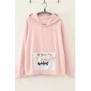 Funny MY FAVORITE Fish Bone Pocket Girls Loose Fit Pullover Hoodie