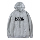 German Director Simple Letter Basic Casual Sport Pullover Hoodie