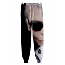 3D Figure Print Drawstring Waist Stylish Casual Sport Track Pants