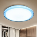 Ultra Thin LED Flush Light with Blue/Pink Acrylic Lampshade Modern Chic Ceiling Lamp