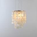 Shelly Stream Style Pendant Lamp Modern Design Single Head Suspended Light in Gold