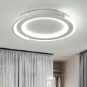 Nordic Super-thin Ceiling Fixture Acrylic LED Flush Light in Warm/White for Living Room