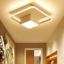 Metal Squared LED Ceiling Lamp with 1/2/3 Frame Minimalist Flush Mount in Warm/White/Neutral