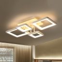 Nordic Style Ultrathin Semi Flush Mount with 4/6/8/10 Square Frame Acrylic LED Semi Flush Light