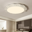 Scalloped Flush Light with Crack Pattern Contemporary Acrylic LED Flush Mount Light in Warm/White