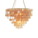 Cognac Shelly Shade Pendant Lamp Modernism Metal Decorative Single Head Hanging Lamp