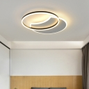 Metallic Halo Ring LED Lighting Fixture Nordic Style Flush Light in Neutral for Hotel Hall