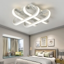 Curve Bar Ceiling Light Modern Design Silicon Gel 3/4/6 Lights LED Flush Mount in White