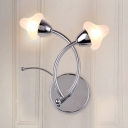 Opal Glass Mushroom Wall Light Sconce Modern Design 2 Heads Wall Lamp for Restaurant Staircase
