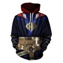 Cool 3D The Avengers Pattern Long Sleeve Pullover Navy Hoodie