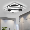 Strips Design Ceiling Flush with Metal Frame Nordic Style LED Flush Light in Warm/White