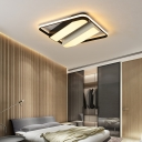 Black and White Striped Flush Lighting Modern Fashion LED Ceiling Lamp with Acrylic Lampshade