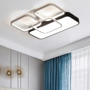 Blocks LED Flushmount Modern Design Acrylic Decorative Ceiling Fixture in Warm/White