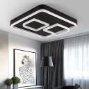 Aluminum Square Ceiling Lamp Modern Chic LED Flush Light in Warm/White for Hotel Hall
