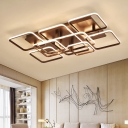 Metal Geometric Pattern Semi Flush Mount Modern Fashion 8/9 Lights Surface Mount LED Light